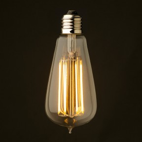 an LED Edison light bulb...a thing of both beauty and efficiency